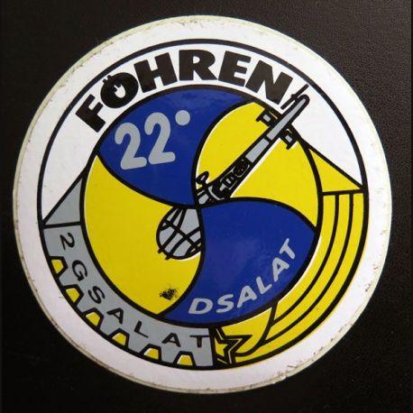 Autocollant du 22° DSALAT du 2° GSALAT FÖHREN