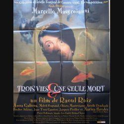 """AFFICHE FILM : affiche de cinéma du film """"3 vies et une seule mort"""" de 1996 dimension 115 x 158 cm (E012)"""