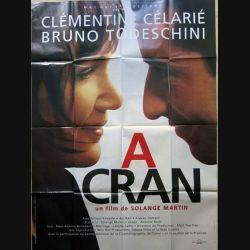 """AFFICHE FILM : affiche de cinéma du film """"A cran"""" de 1995 dimension 115 x 158 cm (E012)"""
