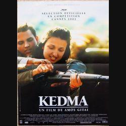 """AFFICHE FILM : affiche de cinéma du film """"Kedma"""" 2002 dimension 40 x 54,5 cm (E039)"""