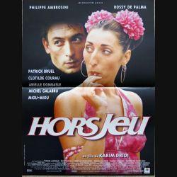 """AFFICHE FILM : affiche de cinéma du film """" Hors jeu """" dimension 40 x 53,5 cm (E039)"""