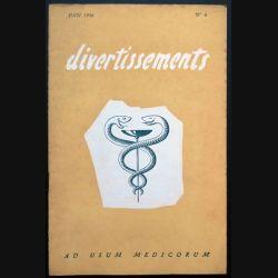 Divertissements n° 6 - Juin 1956 - Ad usum medicorum (C 195)