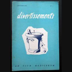 Divertissements n° 1 - Janvier 1954 - Ad usum medicorum (C 195)