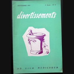 Divertissements n° 9 - septembre 1953 - Ad usum medicorum (C 195)
