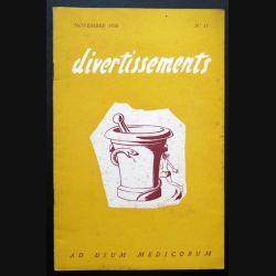 Divertissements n° 11 - novembre 1956 - Ad usum medicorum (C 195)