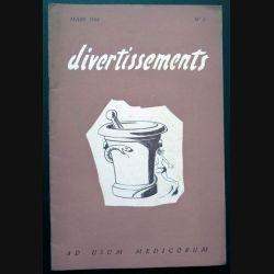 Divertissements n° 3 - mars 1958 - Ad usum medicorum (C 195)