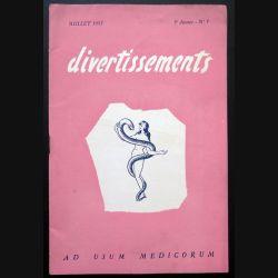 Divertissements n° 7 - Juillet 1953 - Ad usum medicorum (C 195)