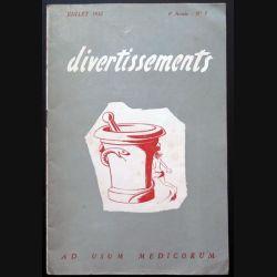 Divertissements n° 7 - Juillet 1952 - Ad usum medicorum (C 195)