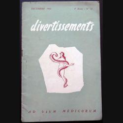 Divertissements n° 12 - décembre 1952 - Ad usum medicorum (C 195)