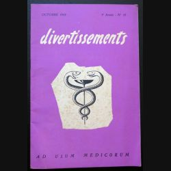 Divertissements n° 10 - Octobre 1953 - Ad usum medicorum (C 195)