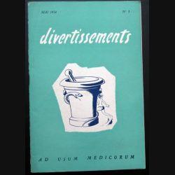 Divertissements n° 5 - mai 1954 - Ad usum medicorum (C 195)
