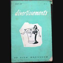 Divertissements n° 8 - août 1957 - Ad usum medicorum (C 195)