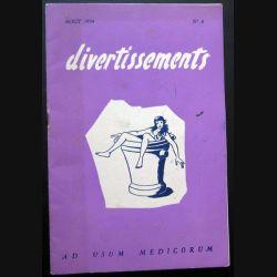 Divertissements n° 8 - août 1954 - Ad usum medicorum (C 195)