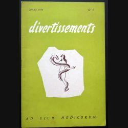 Divertissements n° 3 - mars 1954 - Ad usum medicorum (C 195)