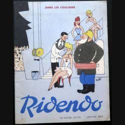 Ridendo n° 176 - Janvier 1954 Humour Dans les coulisses (C 195)