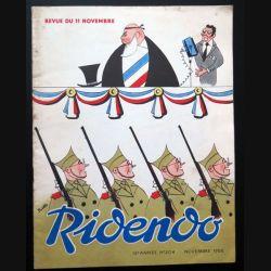 Ridendo n° 204 - Novembre 1956 Humour Revue du 11 novembre (C 195)