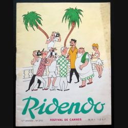 Ridendo n° 210 - Mai 1957 Humour Festival de Cannes (C 195)