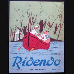 Ridendo n° 189 - Avril 1955 En canot, au bois (C 195)