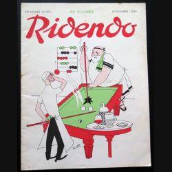 Ridendo n° 195 -Décembre 1955 Au billard (C 195)
