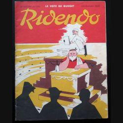 Ridendo n° 165 - Décembre 1952 Humour Vote du Budget (C 195)