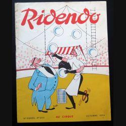 Ridendo n° 203 - Octobre 1956 Humour Au cirque (C 195)