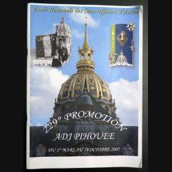 Livre de la 229° promotion de l'ENSOA Adjudant Pihouée (C 193)