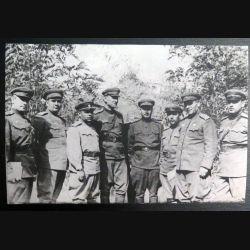 URSS : photo 17 x 11,2 cm Généraux et officiers de l'armée rouge Caucase Mai 1943 (C194)