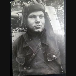URSS : photo 16,5 x 23,5 cm Soldat des troupes blindées 1939 (C194)