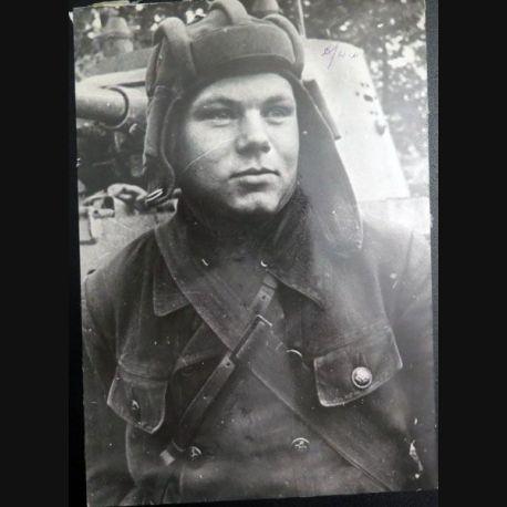 URSS : photo 16,5 x 23,5 cm Soldat des troupes blindées 1939 (C200)