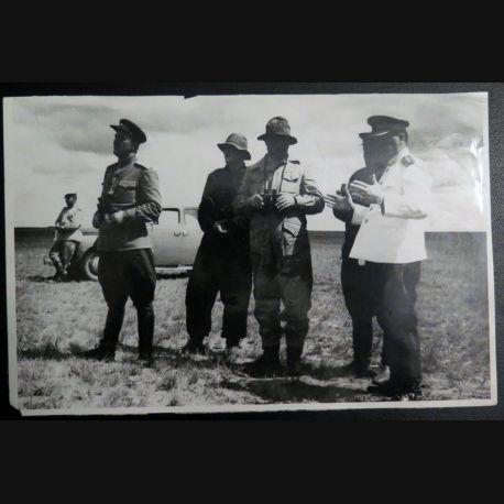 URSS : photo 14,7 x 22,5 cm les généraux du Zabaïkalsky front aout 1945  avec tampon au dos (C200)
