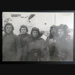 URSS : photo 23,8 x 16,3 cm Groupe des tankistes soviétiques 1944 (C194)