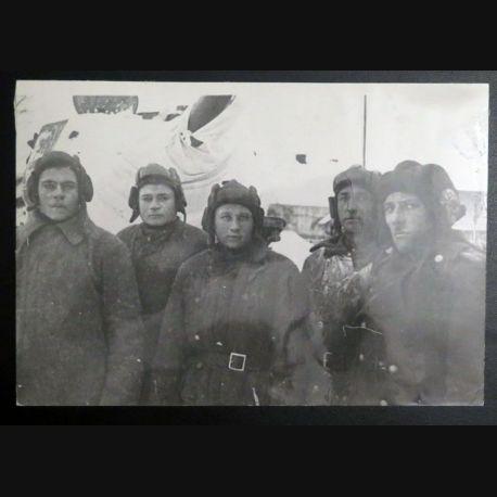 URSS : photo 23,8 x 16,3 cm Groupe des tankistes soviétiques 1944 (C200)