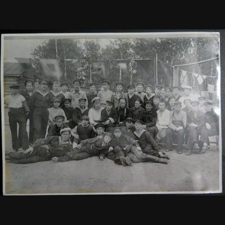 URSS : photo 24,2 x  18 cm les communistes prêts au départ au front contre Wrangel été 1920 (C200)