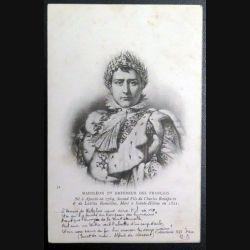 Carte postale Napoléon 1° Empereur des Français 1903 avec 2 timbres 5 centimes vert bleu