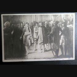 Carte postale Napoléon reçoit au Louvre les députés de l'Armée oblitérée