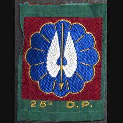 25° DP : Insigne tissu de la 25° division parachutiste