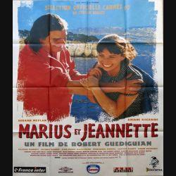 """AFFICHE FILM : affiche de cinéma du film """" Marius et Jeannette"""" de 1997 dimension 115 x 158 cm (E023)"""