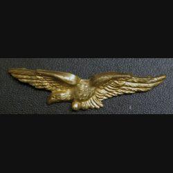AIR : insigne épaulette de l'armée de l'Air charognard en métal doré 1 patte de fixation cassée