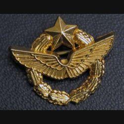 insigne miniature de brevet de pilote d'avion de l'armée de l'air doré à l'or fin