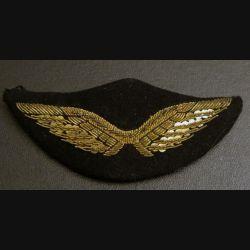 AIR : insigne tissu de casquette de l'armée de l'air en cannetille