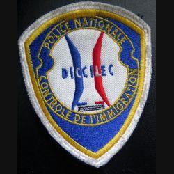 POLICE : insigne de la police nationale DICCILEC contrôle de l'immigration sur scratch