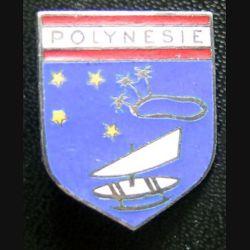 ECU de Gendarmerie de Polynésie de fabrication A.B Paris G. 2328 en émail