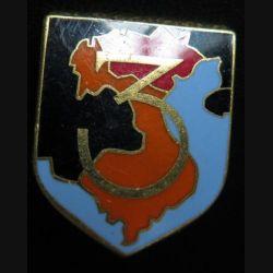 Écu de gendarmerie de la 3° légion garde républicaine de marche Drago Paris carte orangée sans écrou Refrappe