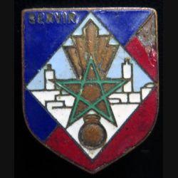 Écu de gendarmerie de la 11° légion garde républicaine Tunisie type 1 originale éclat d'émail
