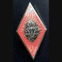 4° RC : insigne métallique du 4° régiment de cuirassiers de fabrication Drago Paris G. 942