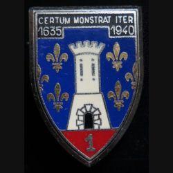 CUIRS : Insigne du 1° régiment de cuirassiers de fabrication Delsart G. 475