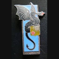 2° RD : insigne du 2° régiment de dragons de fabrication Fraisse Paris H. 171