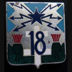 18° RT : 18° régiment de transmissions en émail de fabrication Drago Paris H. 638