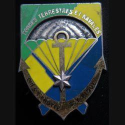 GABON : insigne des Forces terrestres et navales gabonaises de fabrication Drago