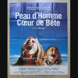 """AFFICHE FILM : affiche """"Peau d'homme cœur de bête """" de 1999 dimension 115 x 158 cm (E030)"""